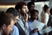Job Fair Held At 7 World Trade Center In New York