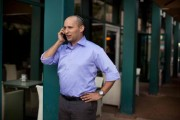 Naftali Bennett Of Right Wing Jewish Home Party Canvasses Ahead Of Israel's January Elections