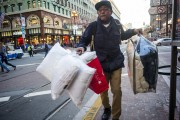 Shoppers In Union Square As Retailers Get Late Surge, Boosting Holiday Sales