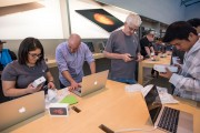 Inside An Apple Inc. Store As The New iPhones Are Released