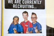 Sports Direct shop employment poster recruiting casual workers
