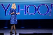Yahoo! President and CEO Marissa Mayer delivers a keynote address