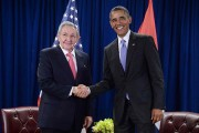 U.S. President Barack Obama Meets With President Raul Castro Of Cuba