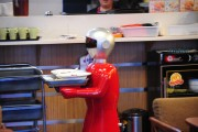 Robot Serves For Customers In A Shenyang Restuarant
