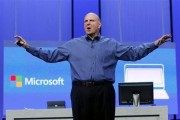 Microsoft CEO Steve Ballmer gestures during his keynote address at the Microsoft ''Build'' conference in San Francisco, California June 26, 2013. Credit: Reuters/Robert Galbraith