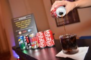 Coca Cola being served during 2016 Food Network & Cooking Channel South Beach Wine & Food Festival
