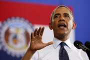 U.S. President Barack Obama speaks about the economy during a trip to the University of Central Missouri in Warrenburg, Missouri July 24, 2013. REUTERS/Kevin Lamarque