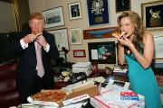 Donald Trump Receives Domino's Pizza Delivery