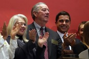 Halliburton CEO Rings NYSE Opening Bell On Company's 95th Anniversary