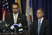 U.S. Secret Service Special Agent James Mottola (L) and New Jersey Attorney Paul J. Fishman speak to the media during a news conference in Newark, July 25, 2013. Credit: Reuters/Eduardo Munoz