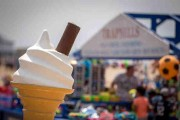 Ice Cream Cone In The Summer