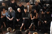 Tyga and Kylie Jenner at the front row of Alexander Wang's Fall 2016 New York Fashion Week show