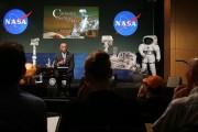 NASA Administrator Charles Bolden speaks about the Curiosity rover  at NASA headquarters