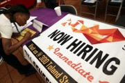 Job Seekers Apply For Open Positions
