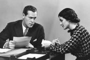 Businessman with secretary
