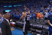 Tim Duncan's final seconds in the NBA? - Spurs vs OKC, Game 6, NBA Playoffs 2016