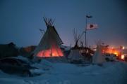 Dakota Pipeline Access Project Protesters Brave Frigid Weather To Continue Encampment